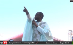"""Vidéo - Youssou Ndour : """"Le Peuple sénégambien ne pourra jamais remercier assez les présidents Barrow et Sall pour le pont de Farafégny"""""""
