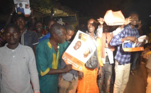 "PHOTOS - Le passage de la caravane ""Orange"" d'Idrissa Seck à Kidira"