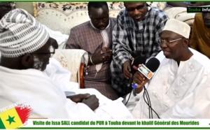 Discours de Issa Sall du PUR devant le khalif Général des Mourides