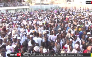VIDEO : Les temps forts du meeting de Macky Sall à Pikine