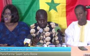 """REPLAY - Affaire Pétrole et Gaz: Conférence de Presse de la plateforme """"Saam Sunu Reew"""""""