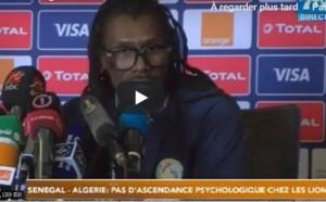 """VIDEO - Aliou Cissé: """"l'Algérie est notre bête noire mais on a une nouvelle génération"""""""