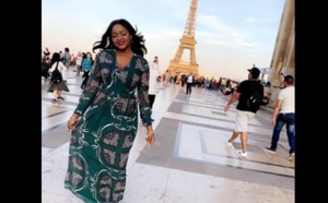 PHOTOS -  Fama Thioune profite bien de ses vacances à Paris