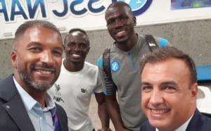 PHOTOS - Naples/Liverpool: Habib Bèye en toute complicité avec Sadio Mané et Koulibaly