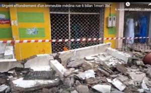 VIDEO - Médina, Rue 6: Un balcon s'effondre, fait un mort et 3 blessés