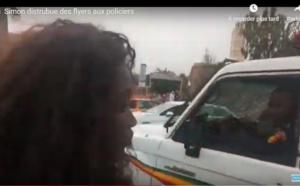 VIDEO- Opération Flyers Partout de Noo Lank: Le rappeur Simon distribue des flyers à des policiers