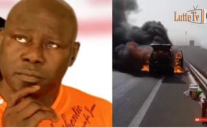 Urgent - Autoroute à péage: La voiture de Tapha Gueye prend feu et brûle entièrement...