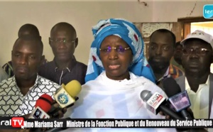 VIDEO - Deuxième jour de la Caravane du Service public à Kaolack (Mariama Sarr, Ministre de la Fonction publique)