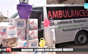 LUTTE CONTRE LE C0R0N@ - La commune de Mbadakhoune offre à Kongoly-Sakha, une ambulance médicalisée (Vidéo)