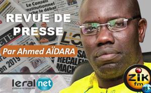 Revue de presse de Zik du Lundi 30 Mars 2020 par AHMED AIDARA