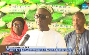 VIDEO - Lutte contre le COVID-19: Le Maire de la Commune de Keur Momar Sarr distribue 50 tonnes de riz...
