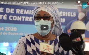 Vidéo-Remise de don aux acteurs de l'assainissement: Mme Léna Tall Faye: « L'ONAS a toujours a été à côté  de nous..... »
