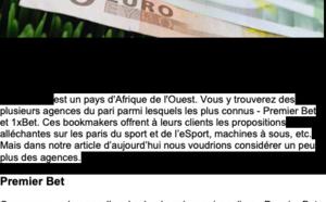 Bookmakers au Sénégal
