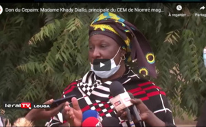 Don du Cepaim: Madame Khady Diallo, principale du CEM de Niomré magnifie l'acte et lance un appel