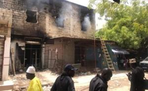 PHOTOS/ Kaolack: Incendie du marché central
