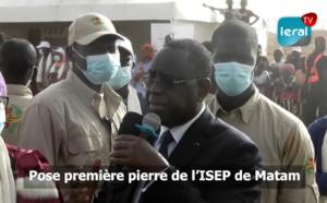 Tournée économique: Pose de la première pierre de l'ISEP de Matam (Intégrale)
