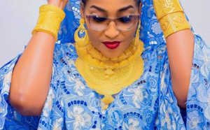 """Magal 2021: L'épouse de Askia Touré, Ngoye Fall alias """"la reine de l'or"""", fait encore parler d'elle (Photos)"""