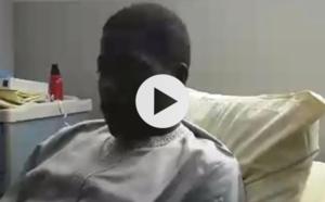 Vidéo de Talla Sylla sur son lit d'hôpital, à la veille de son intervention chirurgicale