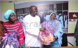 Ramadan et Solidarité : Arona Coumba Ndoffène Diouf remet des paniers ramadan et enveloppes aux délégués de biscuiterie