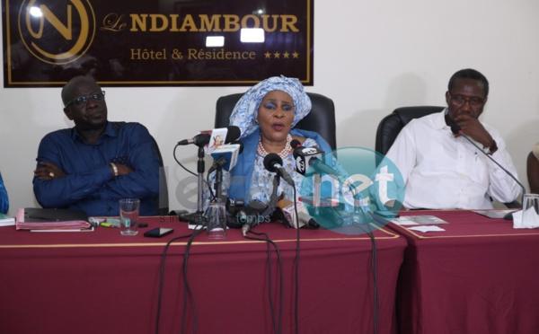 Revivez en images la conférence de presse d'Aïda Ndiongue