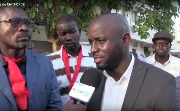 Vidéo- Sit in des travailleurs du groupe CSI MATFORCE, le député Thierno Bocoum promet des actions en faveur des manifestants