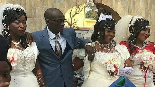 Il épouse ses trois concubines en même temps devant le maire