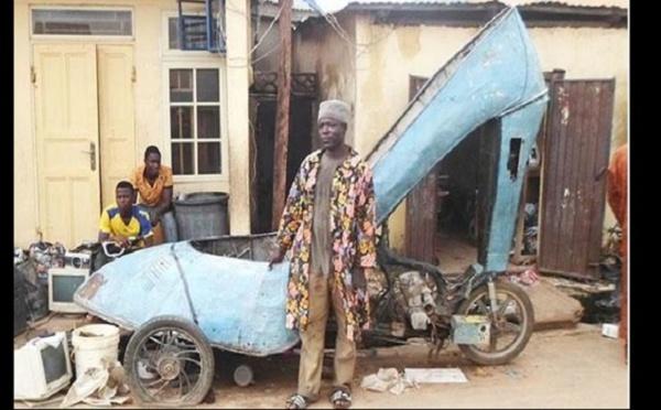 Impressionnant! Un nigérian de 23 ans transforme une moto en une chaussure géante à haut talon (PHOTO)