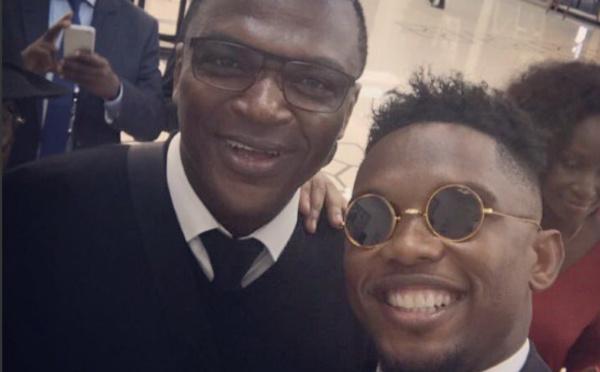 Samuel Etoo et Marcel Desailly au Stade de l'Amitié à la finale de la Coupe d'Afrique des Nations !