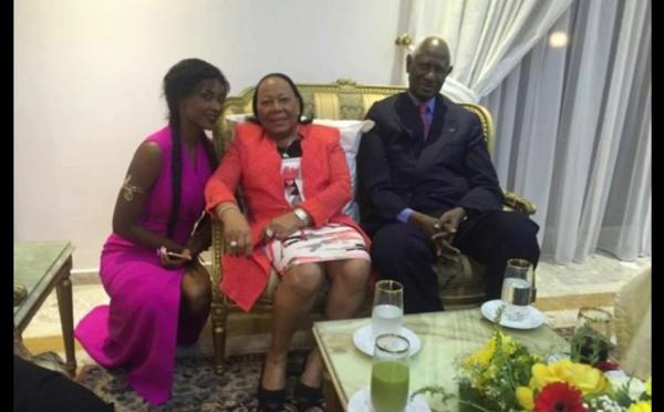Abdou Diouf, Elizabeth en famille