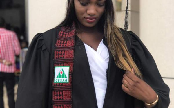Amina, la fille d'Ibou Cissé du (Super Etoile), décroche sa licence professionnelle...