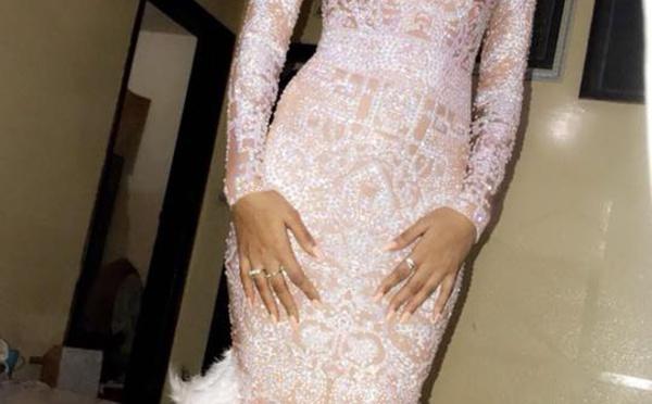 Marie Louise Diaw, dans sa sublime robe pour fêter son anniversaire