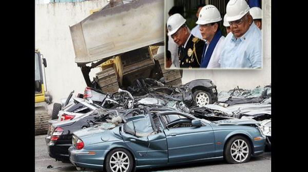 Philippines: Le président ordonne la destruction de voitures de luxe (VIDÉO)