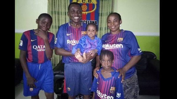 Nigéria: Découvrez en photos l'heureuse « famille Barcelone »