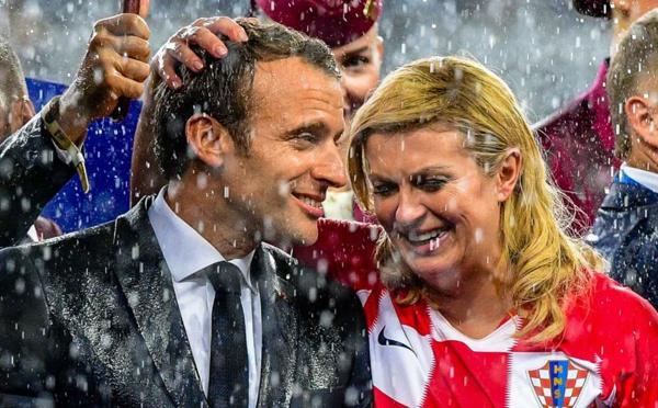 Photos: Emmanuel Macron et la présidente croate Kolinda Grabar-Kitarovic, comme dans un conte de fées