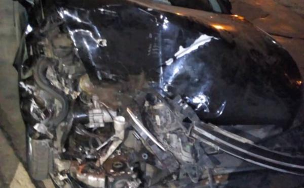 Photos : L'impressionnant accident de la Peugeot 508 d'Abdoulaye Wilane