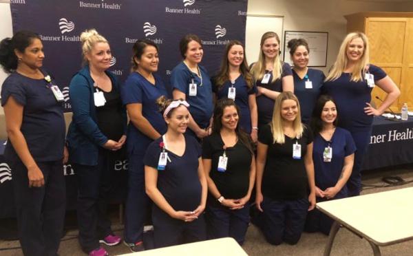 Incroyable : 16 infirmières d'un même hôpital enceintes en même temps