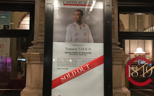 Concert de Youssou Ndour à New York : Guichet fermé !