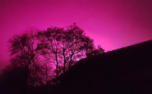EN IMAGES - Nantes : en pleine nuit, un ciel violet intrigue les habitants
