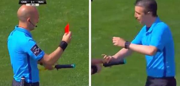 VIDEO - Un arbitre reçoit un carton rouge pour... une pause pipi en plein match