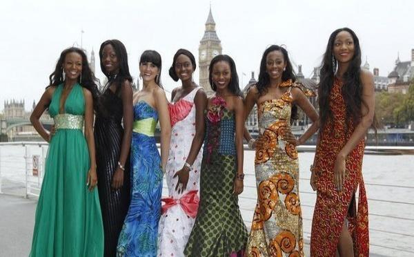 Photo : Les candidates africaines à l'éléection Miss Monde Notez  Lundi 7 Novembre 2011 - 09:45 De gauche à droite, Miss Afrique du Sud, Bokang Montjane, Miss Zimbabwe Malaika Mushandu, Miss Namibie Luzaan Van Wyk, Miss Sierra Leone Swadu Beckley, Mi