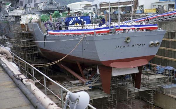 Japon: Le nom du navire USS John McCain a-t-il été masqué pendant la visite de Donald Trump ?