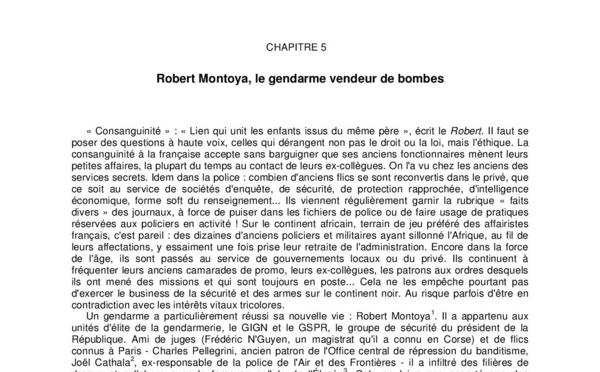 Robert Montoaya, le gendarme vendeur de bombes