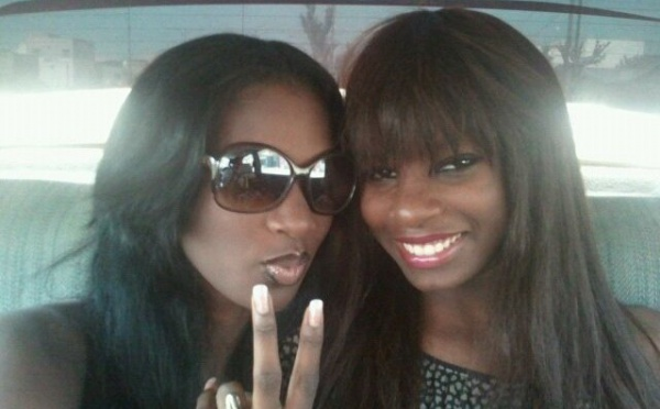 "Mame Diarra ""Lissa"" avec sa petite soeur, Sophia Thiam"