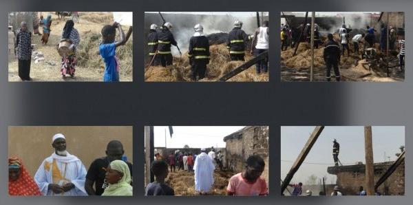 (Photos)- Kaolack : Incendie chez Imam Alioune Ndao