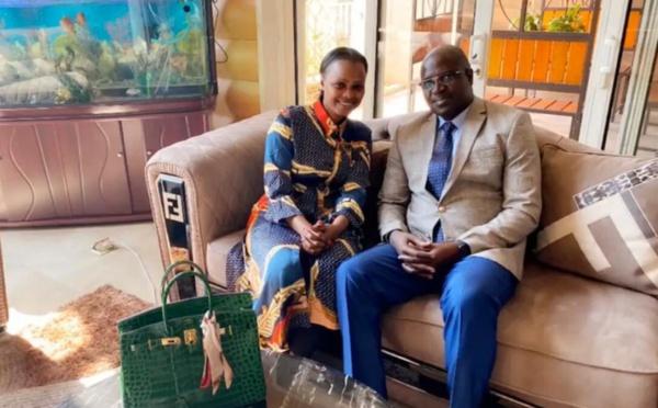 PHOTOS - Mbathio Ndiaye réapparaît avec le Consul général du Sénégal en Chine