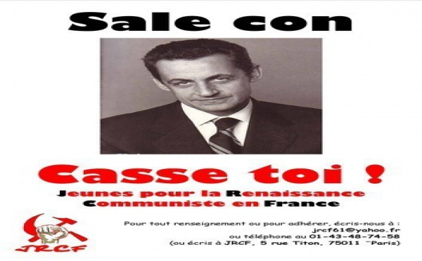 "Sarkozy traite Yann Barthes de ""con"" et Rémi Gaillard de ""racaille"""