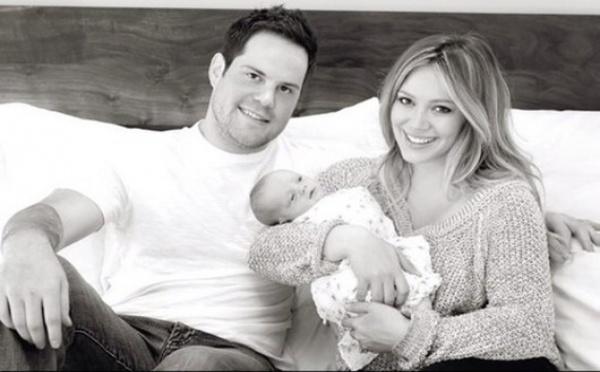 Photo : Hilary Duff en famille après son accouchement