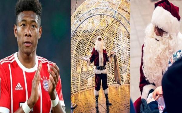 Munich: David Alaba se déguise en Père Noël dans la rue (PHOTOS)