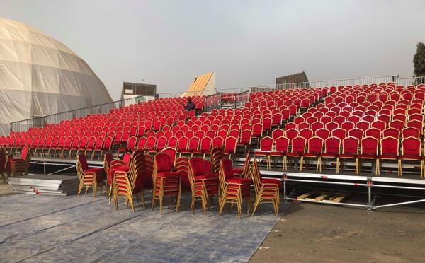 15 Photos- Tout est Prêt pour la soirée du roi du Mbalax Youssou Ndour au Cices