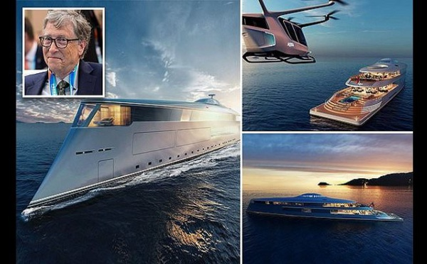 Bill Gates s'offre un super yacht futuriste à 645 millions de dollars (photos)